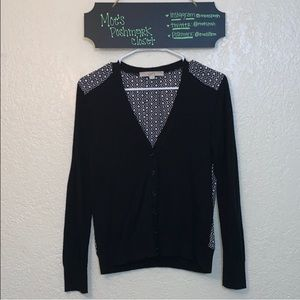 LOFT Black and White Cardigan
